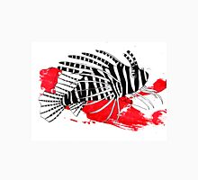 Lion fish on red background Unisex T-Shirt