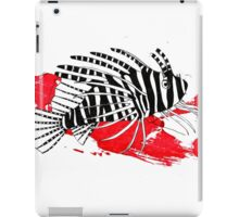 Lion fish on red background iPad Case/Skin