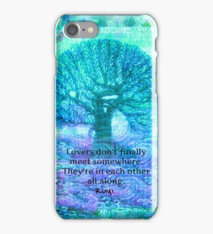 Rumi Love Quote with tree art iPhone Case/Skin