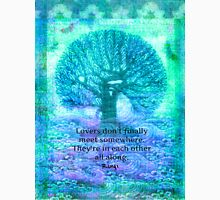 Rumi Love Quote with tree art Unisex T-Shirt