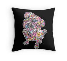 colorfull henna pug  Throw Pillow