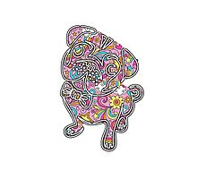 colorfull henna pug  Photographic Print