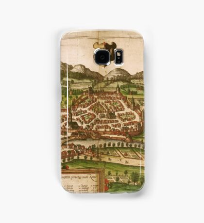 Kempten Vintage map.Geography Germany ,city view,building,political,Lithography,historical fashion,geo design,Cartography,Country,Science,history,urban Samsung Galaxy Case/Skin