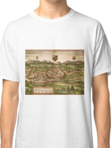 Kempten Vintage map.Geography Germany ,city view,building,political,Lithography,historical fashion,geo design,Cartography,Country,Science,history,urban Classic T-Shirt