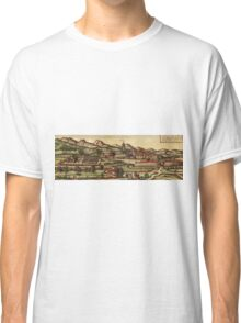Kassel Vintage map.Geography Germany ,city view,building,political,Lithography,historical fashion,geo design,Cartography,Country,Science,history,urban Classic T-Shirt
