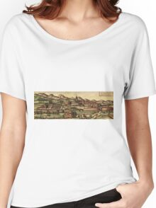 Kassel Vintage map.Geography Germany ,city view,building,political,Lithography,historical fashion,geo design,Cartography,Country,Science,history,urban Women's Relaxed Fit T-Shirt