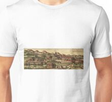 Kassel Vintage map.Geography Germany ,city view,building,political,Lithography,historical fashion,geo design,Cartography,Country,Science,history,urban Unisex T-Shirt