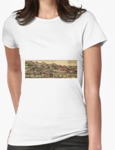 Kassel Vintage map.Geography Germany ,city view,building,political,Lithography,historical fashion,geo design,Cartography,Country,Science,history,urban Womens Fitted T-Shirt
