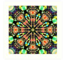Colourful Pattern in a Kaleidoscope Art Print