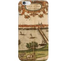 Kampen Vintage map.Geography Netherlands ,city view,building,political,Lithography,historical fashion,geo design,Cartography,Country,Science,history,urban iPhone Case/Skin