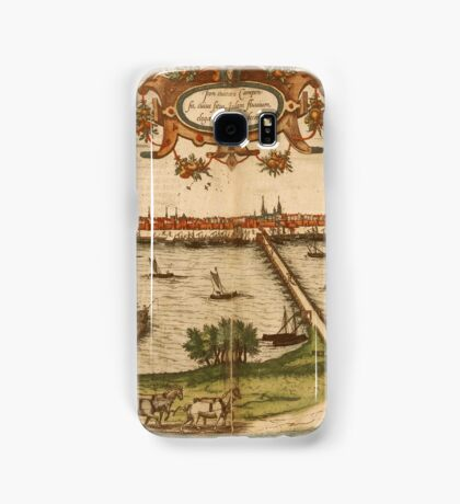 Kampen Vintage map.Geography Netherlands ,city view,building,political,Lithography,historical fashion,geo design,Cartography,Country,Science,history,urban Samsung Galaxy Case/Skin