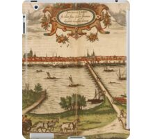 Kampen Vintage map.Geography Netherlands ,city view,building,political,Lithography,historical fashion,geo design,Cartography,Country,Science,history,urban iPad Case/Skin