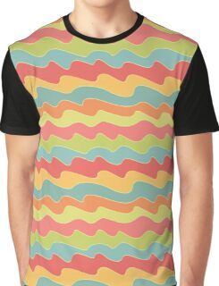 Retro colorful wave pattern. Pop seamless background.  Graphic T-Shirt