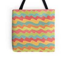 Retro colorful wave pattern. Pop seamless background.  Tote Bag