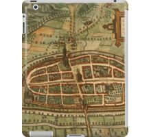 Kalkar Vintage map.Geography Germany ,city view,building,political,Lithography,historical fashion,geo design,Cartography,Country,Science,history,urban iPad Case/Skin