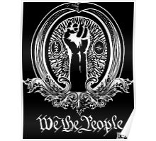 We The People (white print) Poster