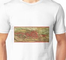 Jena Vintage map.Geography Germany ,city view,building,political,Lithography,historical fashion,geo design,Cartography,Country,Science,history,urban Unisex T-Shirt