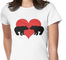 Bears with heart Womens Fitted T-Shirt