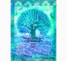 RUMI What you seek is seeking you - Quote with tree art Unisex T-Shirt