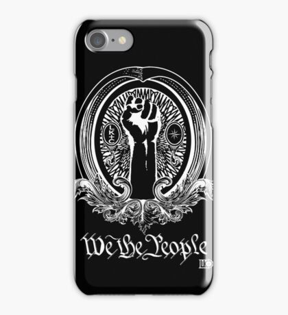 We The People (white print) iPhone Case/Skin