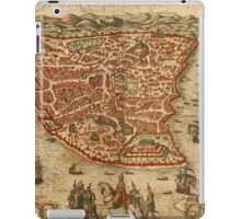 Istanbul Vintage map.Geography Turkey ,city view,building,political,Lithography,historical fashion,geo design,Cartography,Country,Science,history,urban iPad Case/Skin