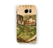 Iraklion Vintage map.Geography Greece ,city view,building,political,Lithography,historical fashion,geo design,Cartography,Country,Science,history,urban Samsung Galaxy Case/Skin