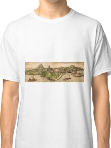 Iraklion Vintage map.Geography Greece ,city view,building,political,Lithography,historical fashion,geo design,Cartography,Country,Science,history,urban Classic T-Shirt