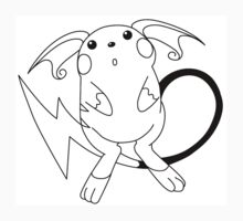 Black and White Raichu by Benjamin Warren