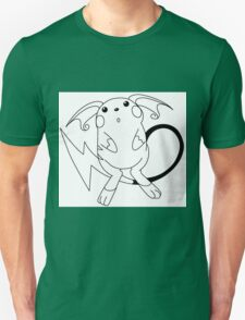 Black and White Raichu T-Shirt