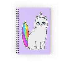 Rebel the Unicorn Cat – Sitting Spiral Notebook