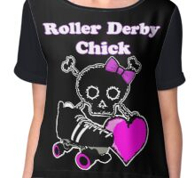 Roller Derby Chick (Pink) Chiffon Top