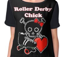 Roller Derby Chick (Red) Chiffon Top