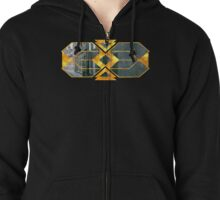 Gilded streets Zipped Hoodie