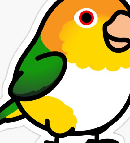 Chubby White Bellied Caique Sticker