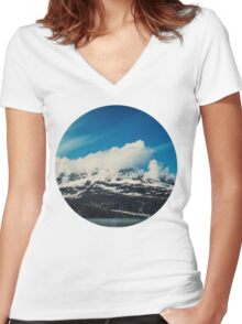 Alaska Mountain Women's Fitted V-Neck T-Shirt