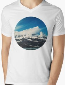 Alaska Mountain Mens V-Neck T-Shirt