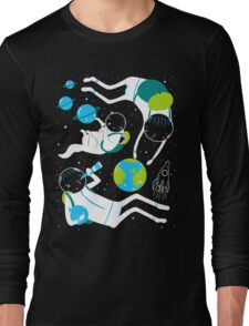 A Day Out In Space - Black Long Sleeve T-Shirt