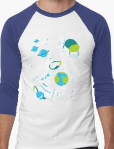 A Day Out In Space - Black Men's Baseball ¾ T-Shirt
