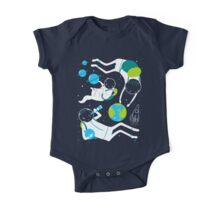 A Day Out In Space - Black One Piece - Short Sleeve