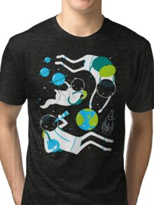 A Day Out In Space - Black Tri-blend T-Shirt