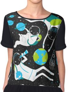 A Day Out In Space - Black Chiffon Top