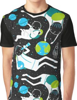 A Day Out In Space - Black Graphic T-Shirt