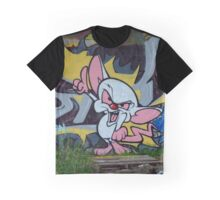 Brain Graffiti Graphic T-Shirt