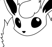 Black and White Flareon Sticker