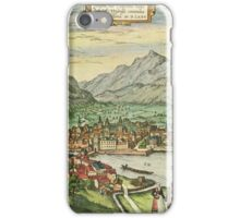 Innsbruck Vintage map.Geography Austria ,city view,building,political,Lithography,historical fashion,geo design,Cartography,Country,Science,history,urban iPhone Case/Skin