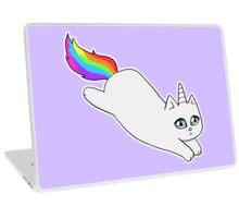 Rebel the Unicorn Cat – Jumping Laptop Skin