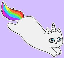 Rebel the Unicorn Cat – Jumping Photographic Print