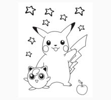Black and White Pikachu and Jigglypuff by Benjamin Warren