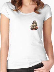 Sailor Jerry Pirate Ship Women's Fitted Scoop T-Shirt