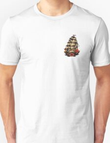 Sailor Jerry Pirate Ship Unisex T-Shirt